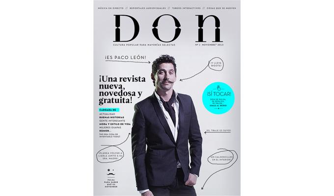 Paco León, portada del número 1 de la Revista Don