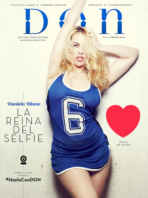 Daniela Blume, portada del nº 4 de la revista Don