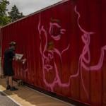 Creación de graffitis en el Beefea