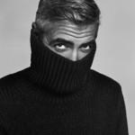 George Clooney con Jersey de cuello vuelto