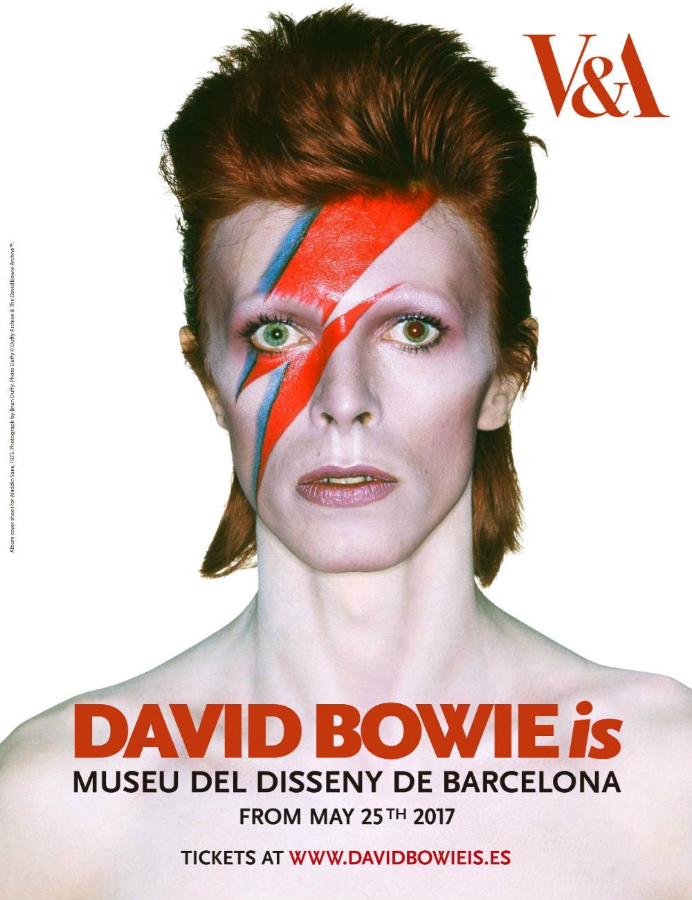 Cartel'David Bowie is' Barcelona