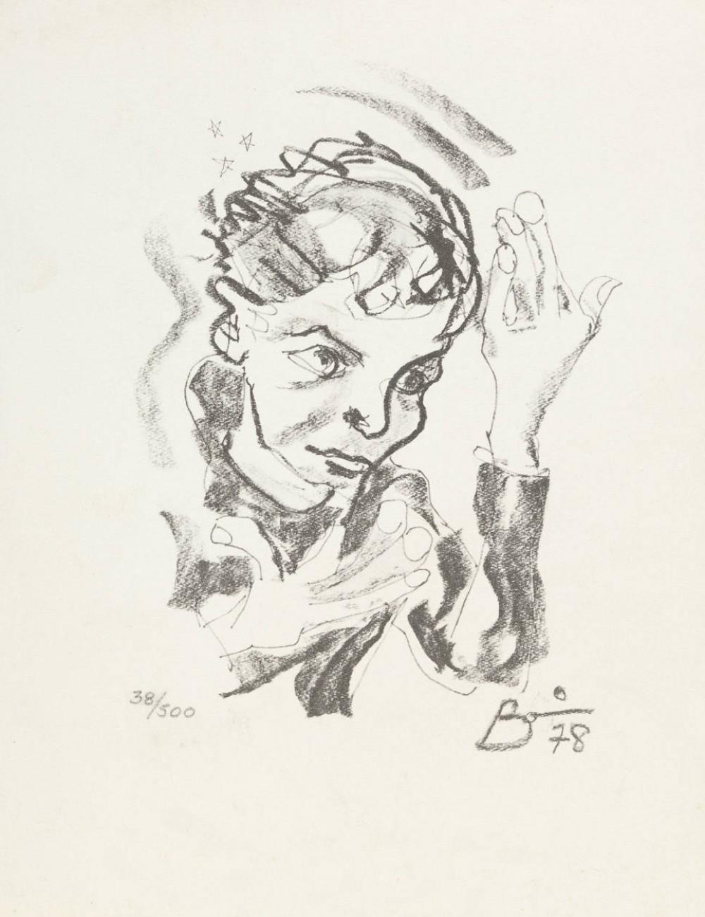 Autorretrato en formato de grabado, 1978