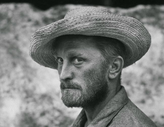 Kirk Douglas caracterizado como Van Gogh