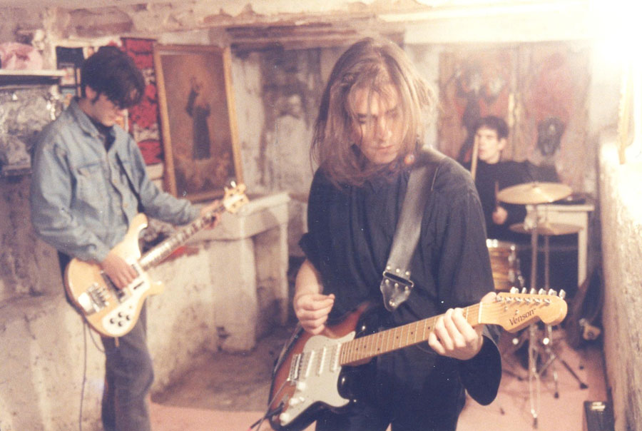 Ensayo de The Glitter Souls en 1992.
