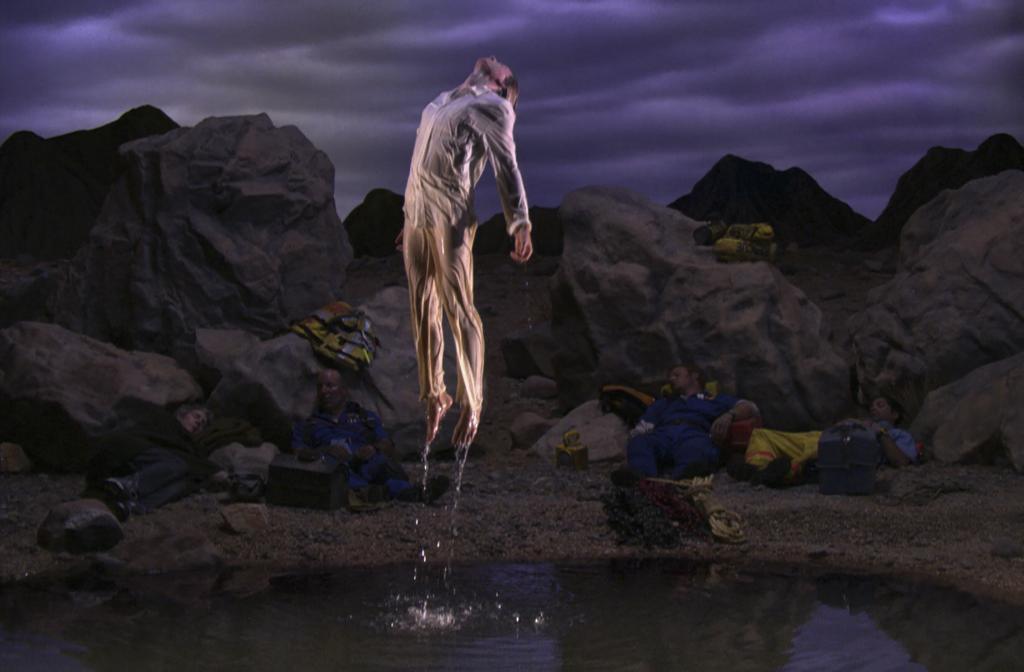 'Avanzando el día' ('Going Forth By Day'), 2002. Instalación de vídeo y sonido en cinco partes.